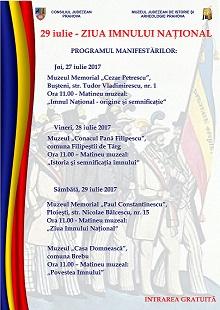 Prahova: Ziua Imnului National al Romaniei va fi celebrata de Muzeul Judetean de Istorie si Arheologie –  prin organizarea de matinee muzeale, in cadrul sectiilor sale din Ploiesti si din judet