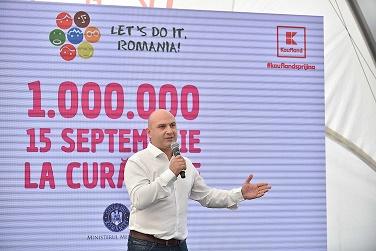 Pe 15 septembrie, 1 milion de romani sunt invitati sa  curete Romania la cea mai mare miscare civica de pe Glob