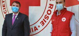 Crucea Rosie Dambovita prin donatii a sprijinit Spitalul Judetean de Urgenta Targoviste-Sectia Boli Infectioase, cu o serie de materiale necesare in lupta cu COVID-19